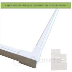 Angolo connettore angolare esterno per canaline elettriche passacavi coprifili bianco giunzione collegamento in PVC