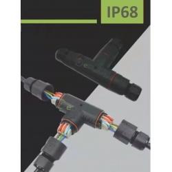 """Scatola elettrica di giunzione stagna a """" T """" per esterno connettore cavi terminali impermeabile IP68"""