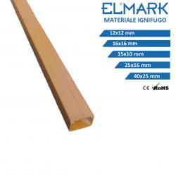 2m Canalina per cavi elettrica 12x12 16x16 15x10 25x16 40x25 in plastica passacavi legno noce coprifili a parete con copertura