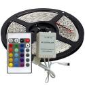 Striscia led multicolore RGB 300LED SMD5050 5MT CON TELECOMANDO ip20 11w/mt