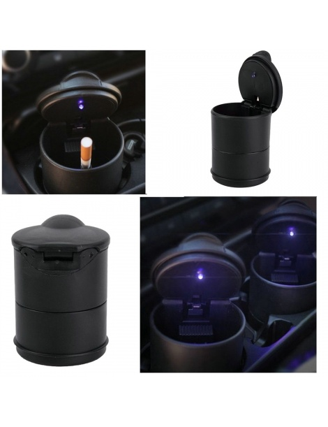 Posacenere portatile per auto con Led Blu
